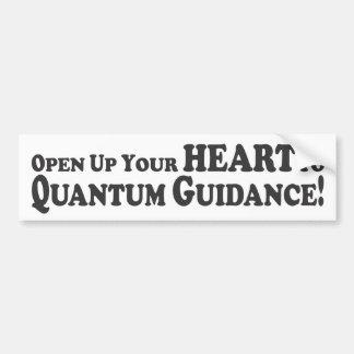 Open Your Heart to Quantum Guidance - Bumper Stic Bumper Sticker