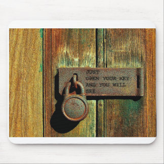 open your key mouse-pad mouse pad