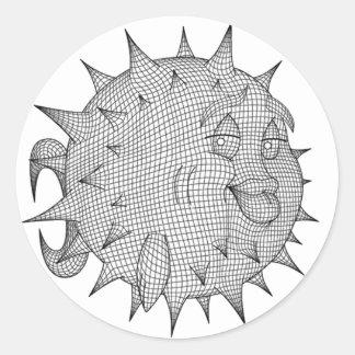 OpenBSD Round Sticker