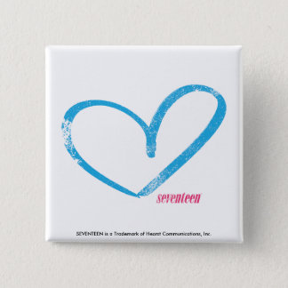 OpenHeart Aqua 15 Cm Square Badge