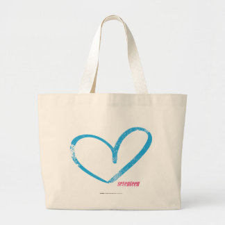 OpenHeart Aqua Large Tote Bag
