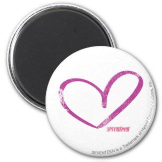 OpenHeart Purple 6 Cm Round Magnet