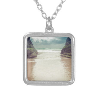 Opening in the Rocks Silver Plated Necklace