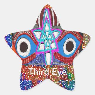 Opening of Solar Plexus - Third Eye Meditation Stickers