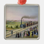Opening of the First Railway Line Christmas Ornament