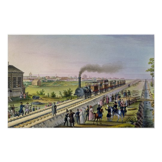 Opening of the First Railway Line Poster
