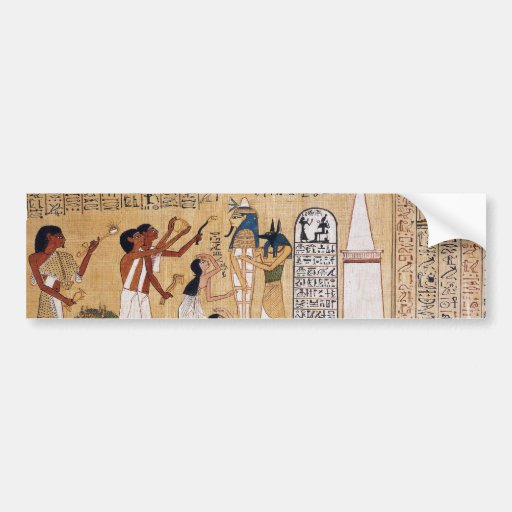 Opening of the mouth ceremony book of the dead bumper sticker zazzle