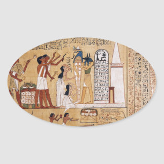 Opening of the Mouth Ceremony Book of the Dead Oval Sticker
