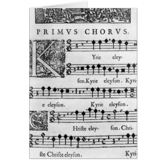 Opening page of the Mass for Double Choir Greeting Card