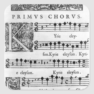 Opening page of the Mass for Double Choir Square Sticker