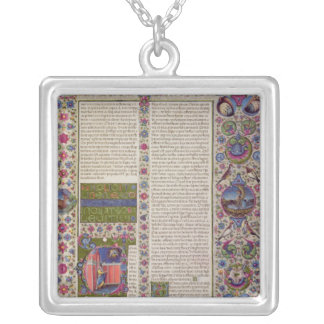 Opening words of Leviticus Silver Plated Necklace
