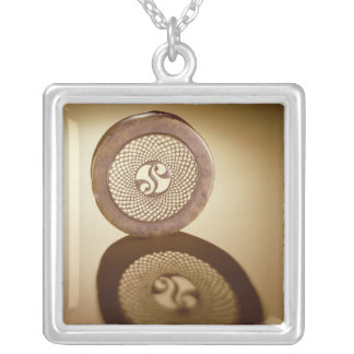 Openwork box lid, from Cornalaragh Silver Plated Necklace