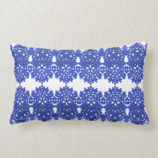 Openwork pattern in the style blue-chinoiserie lumbar pillow
