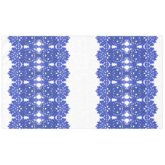 Openwork pattern in the style blue-chinoiserie tablecloth