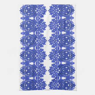 Openwork pattern in the style blue-chinoiserie tea towel