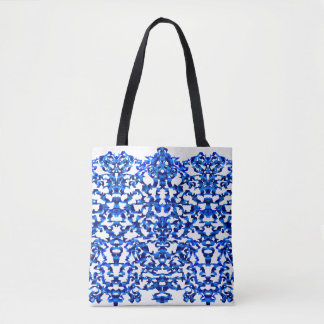 Openwork pattern in the style chinoiserie tote bag