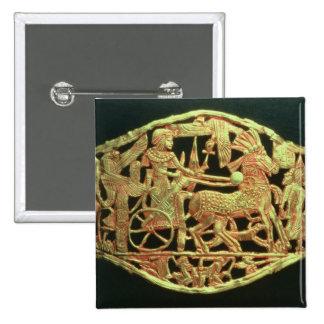 Openwork plaque or buckle 15 cm square badge