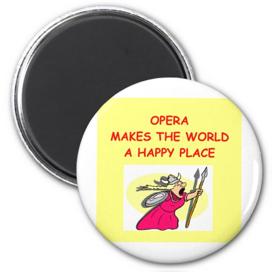 opera 6 cm round magnet