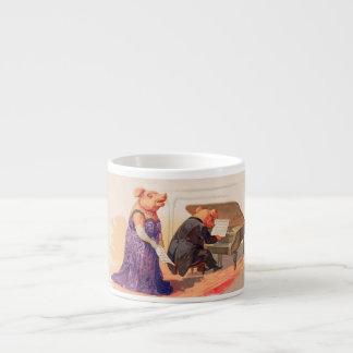 Opera and Expresso - Anthropomorphic Singing Pig Espresso Mug