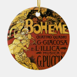 opera art christmas ornament