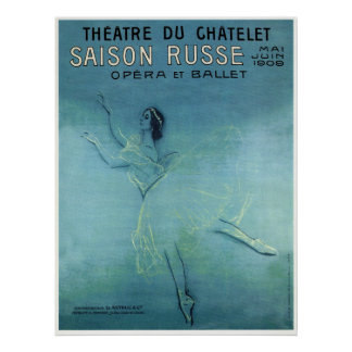 OPERA & BALLET - RUSSIAN SEASON - PARIS 1909 POSTER