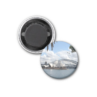 opera bridge view 3 cm round magnet