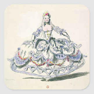 Opera Costume, from the Menus Plaisirs Collection, Square Sticker