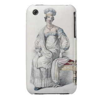 Opera dress, fashion plate from Ackermann's Reposi iPhone 3 Cases