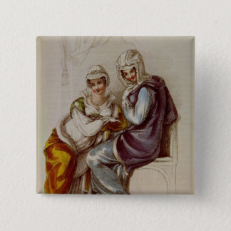 Opera dresses, Ackermann print, 1811 15 Cm Square Badge