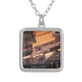 Opera Garnier, Paris, France Square Pendant Necklace