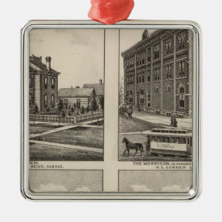 Opera House and Residences in Kansas Christmas Ornament