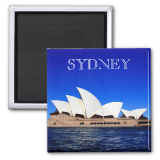 opera house blue square magnet