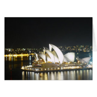 opera house night card