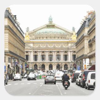 Opera in Paris, France Square Sticker