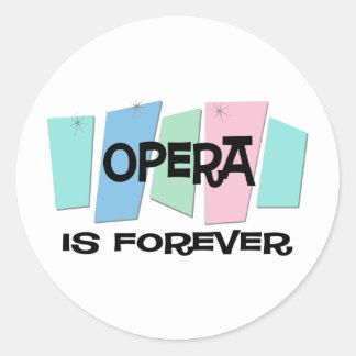 Opera Is Forever Round Sticker