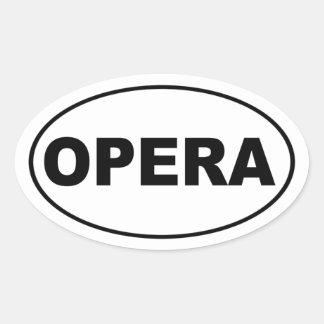 Opera Oval Sticker