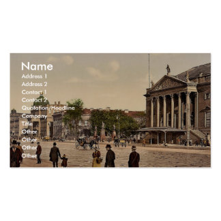 Opera Place, Berlin, Germany magnificent Photochro Business Card
