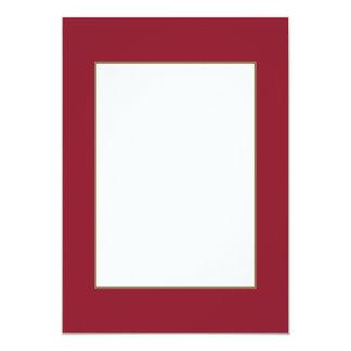 Opera Red-Ruby Crimson Red-French Chateau Wedding 13 Cm X 18 Cm Invitation Card