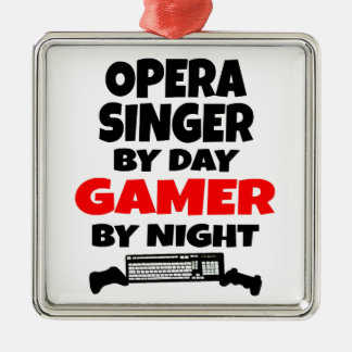Opera Singer by Day Gamer by Night Christmas Ornament
