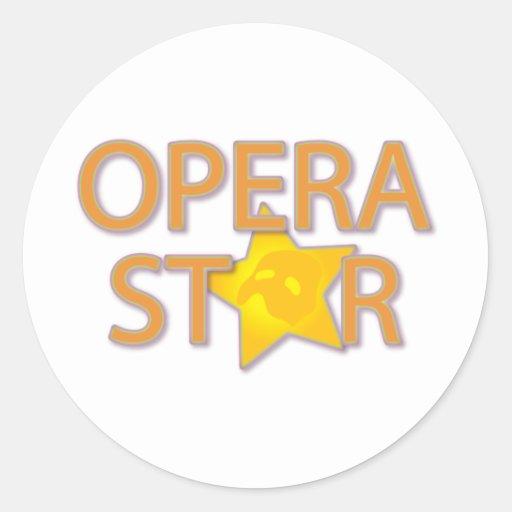 Opera Star Round Stickers