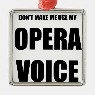 Opera Voice Christmas Ornament