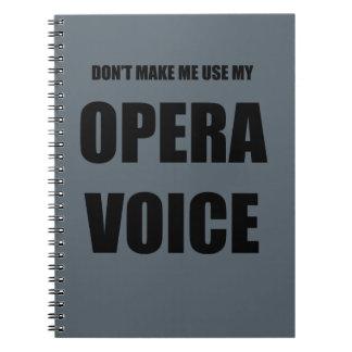 Opera Voice Notebook