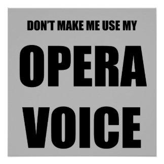 Opera Voice Poster