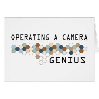 Operating a Camera Genius Greeting Card