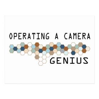 Operating a Camera Genius Postcard