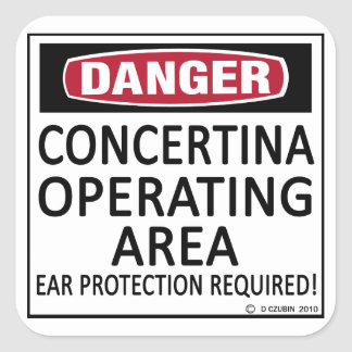 Operating Area Concertina Square Sticker