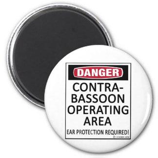 Operating Area Contrabassoon 6 Cm Round Magnet