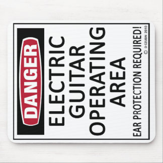 Operating Area Electric Guitar Mouse Pad