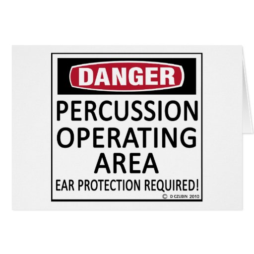 Operating Area Percussion Greeting Card