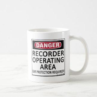 Operating Area Recorder Classic White Coffee Mug